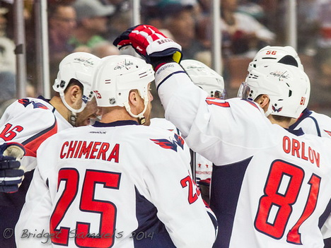 Jason Chimera, Dmitry Orlov, Eric Fehr