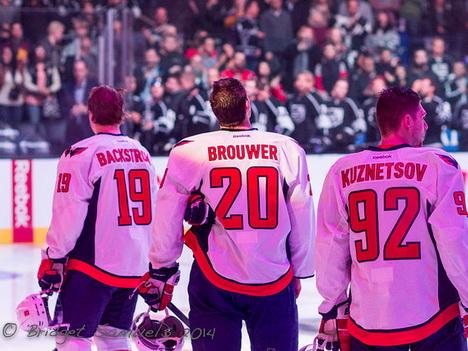 Niklas Backström, Troy Brouwer, Evgeny Kuznetsov